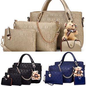 5Pcs/Set Women Lady Leather Handbags Messenger Sho